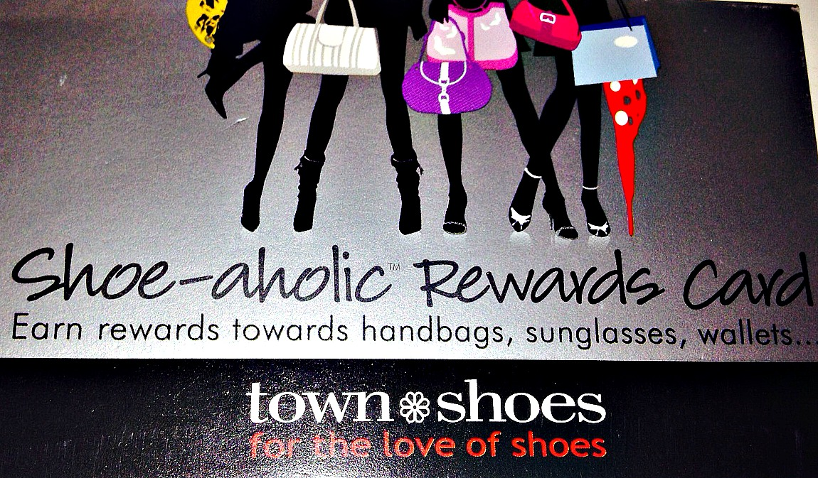 Town Shoes' stamp card offers $25 after 4 purchases
