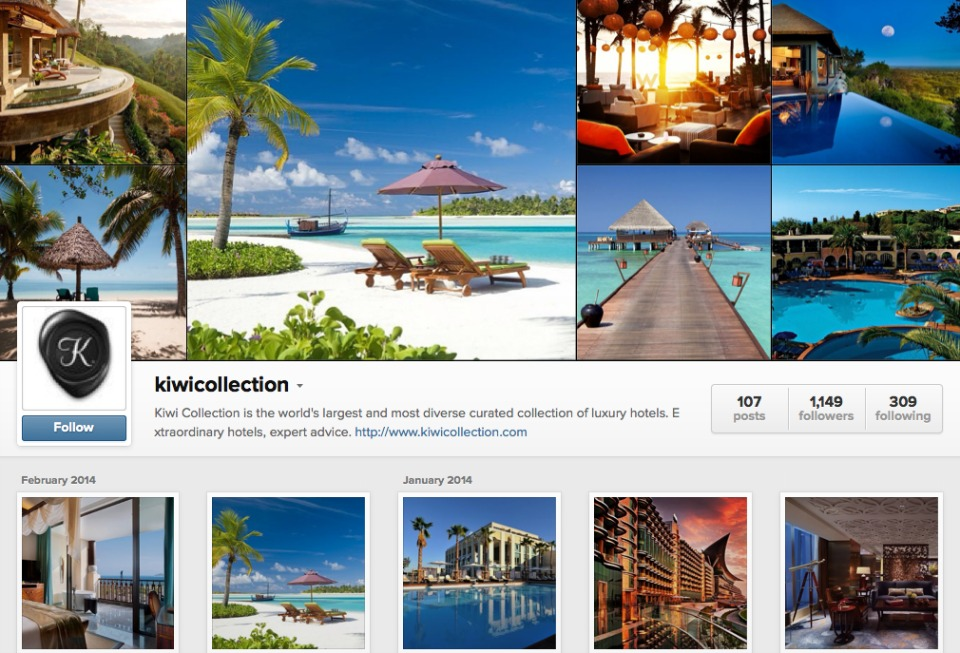 Kiwi Collection Instagram Hashtag Contest Screenshot