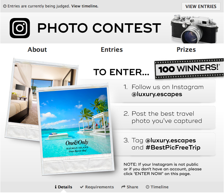 Instagram Contest Website