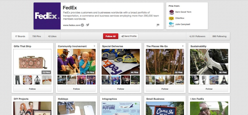 FedEx has mastered Pinterest for B2Bs