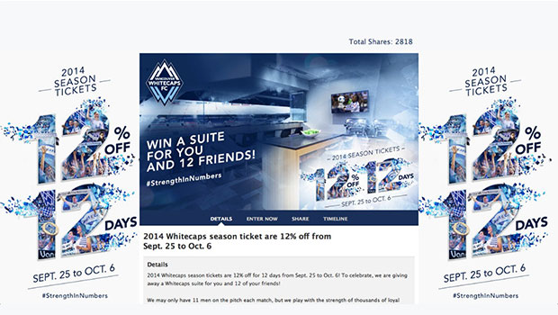 Whitecaps + Sweepstakes
